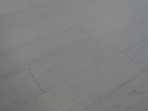 Tradition Cotton White Engineered Oak Parquet Flooring, Lacquered, 190x14xRL mm Image 1