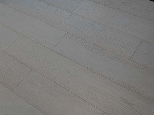 Tradition Cotton White Engineered Oak Parquet Flooring, Lacquered, 190x14xRL mm Image 2
