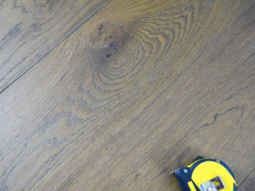 Tradition Engineered Oak Flooring, Natural, Smoked Stain, Brushed & Matt Lacquered, 190x14x1800 mm Image 1