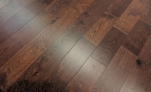 Tradition Engineered Oak Flooring, Walnut Stained, Rustic, Lacquered, 150x3x14 mm Image 1