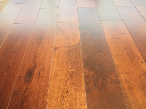 Tradition Engineered Oak Flooring, Walnut Stained, Rustic, Lacquered, 150x3x14 mm Image 2