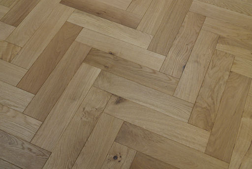Tradition Engineered Oak Parquet Flooring, Brushed, UV Oiled, 90x18x400 mm Image 4