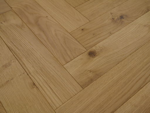 Tradition Engineered Oak Parquet Flooring, Brushed, UV Oiled, 90x18x400 mm Image 1