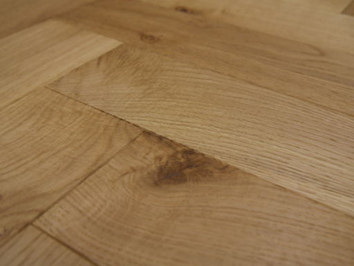Tradition Engineered Oak Parquet Flooring, Brushed, UV Oiled, 90x18x400 mm Image 3