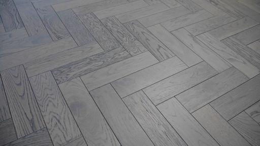 Tradition Engineered Oak Parquet Flooring, Graphite, Grey, 80x18x300 mm Image 1