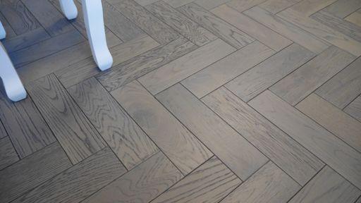 Tradition Engineered Oak Parquet Flooring, Graphite, Grey, 80x18x300 mm Image 2