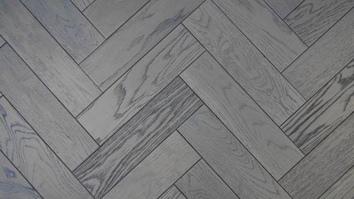 Tradition Engineered Oak Parquet Flooring, Graphite, Grey, 80x18x300 mm Image 3
