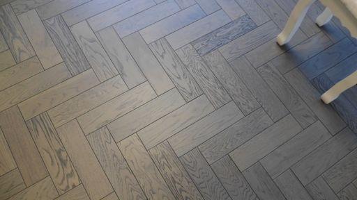 Tradition Engineered Oak Parquet Flooring, Graphite, Grey, 80x18x300 mm Image 4