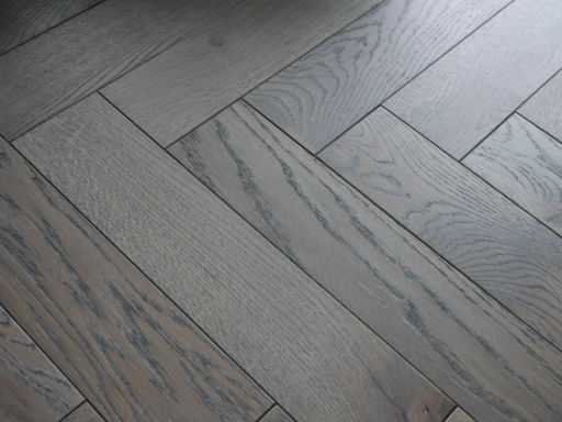 Tradition Engineered Oak Parquet Flooring, Grey, Hardwax Oiled, 90x18x400 mm Image 1