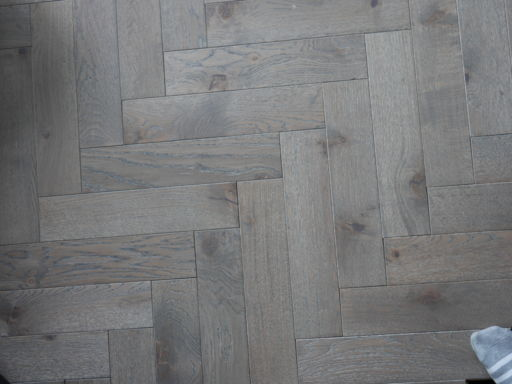 Tradition Engineered Oak Parquet Flooring, Grey, Hardwax Oiled, 90x18x400 mm Image 2