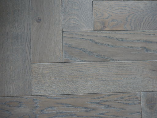 Tradition Engineered Oak Parquet Flooring, Grey, Hardwax Oiled, 90x18x400 mm Image 3