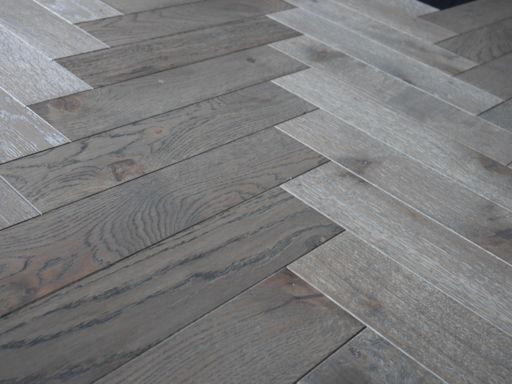 Tradition Engineered Oak Parquet Flooring, Grey, Hardwax Oiled, 90x18x400 mm Image 4