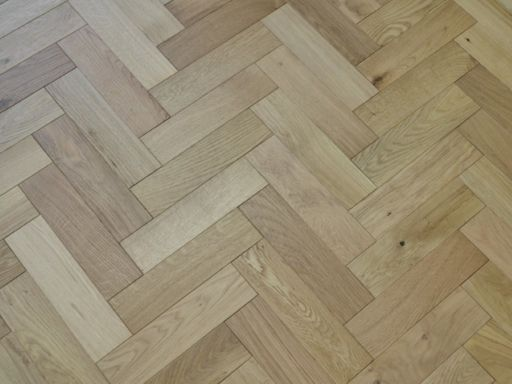 Tradition Engineered Oak Parquet Flooring, Natural, Brushed, Matt Lacquered, 80x18x300 mm Image 1