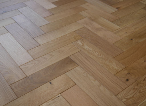 Tradition Engineered Oak Parquet Flooring, Natural, Brushed, Matt Lacquered, 80x18x300 mm Image 2