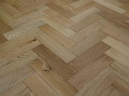 Tradition Engineered Oak Parquet Flooring, Natural, Brushed, Matt Lacquered, 80x18x300 mm Image 3