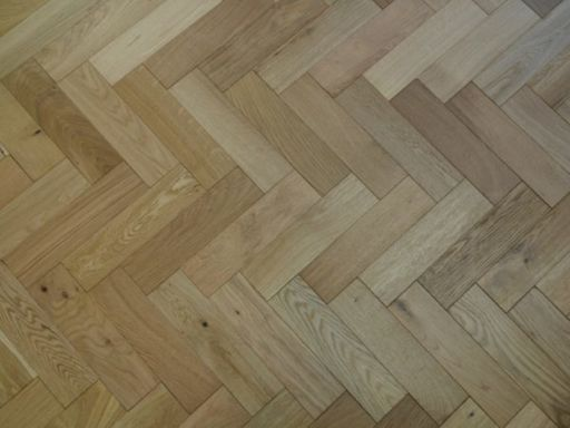 Tradition Engineered Oak Parquet Flooring, Natural, Brushed, Matt Lacquered, 80x18x300 mm Image 4