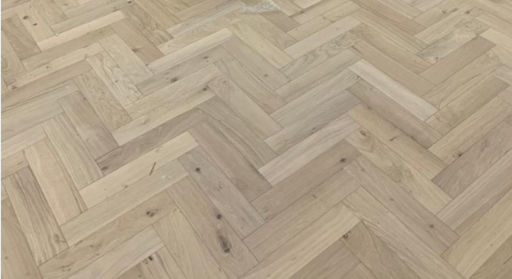 Tradition Engineered Oak Parquet Flooring, Natural, Unfinished, 90x18x400 mm Image 1