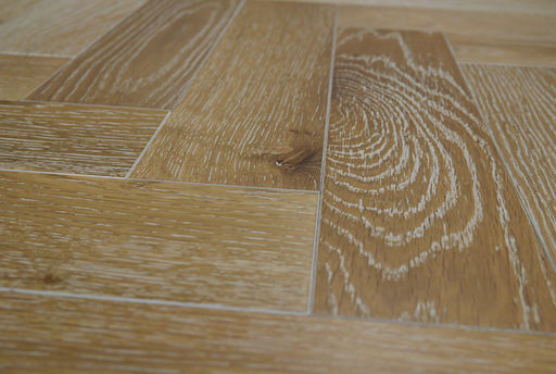 Tradition Engineered Oak Parquet Flooring, Smoked White, Natural, 90x18x400 mm Image 4