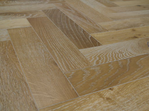 Tradition Engineered Oak Parquet Flooring, Smoked White, Natural, 90x18x400 mm Image 1
