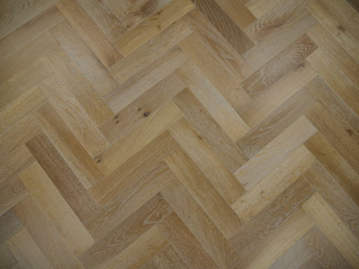 Tradition Engineered Oak Parquet Flooring, Smoked White, Natural, 90x18x400 mm Image 2