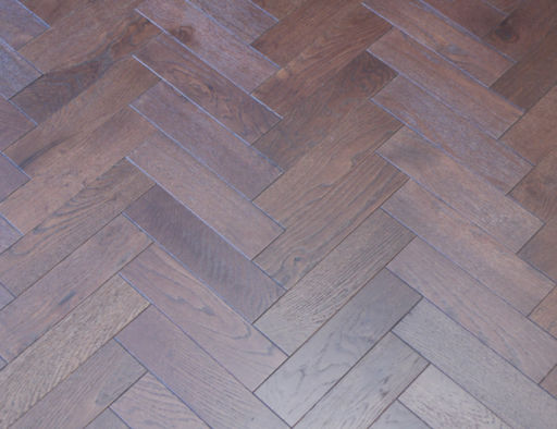 Tradition Engineered Oak Parquet Flooring, Walnut Stain, Brushed, Matt Lacquered, 80x18x300 mm Image 1