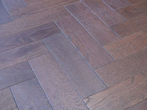 Tradition Engineered Oak Parquet Flooring, Walnut Stain, Brushed, Matt Lacquered, 80x18x300 mm Image 2