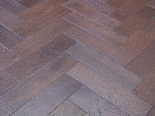 Tradition Engineered Oak Parquet Flooring, Walnut Stain, Brushed, Matt Lacquered, 80x18x300 mm Image 4