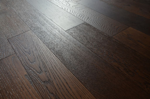 Tradition Engineered Smoked Oak Flooring, Rustic, Brushed, Lacquered, 125x3x14 mm Image 2