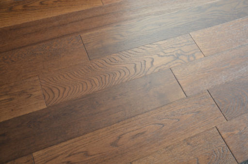 Tradition Engineered Smoked Oak Flooring, Rustic, Brushed, Lacquered, 125x3x14 mm Image 3