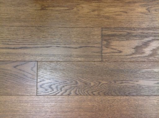 Tradition Engineered Smoked Oak Flooring, Rustic, Brushed, Lacquered, 125x3x14 mm Image 4
