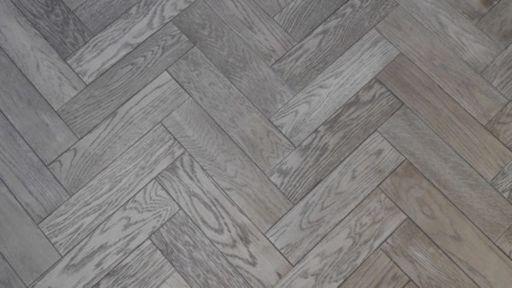 Tradition Herringbone Engineered Oak Parquet Flooring, Gunmetal, Grey, 80x18x300 mm Image 1