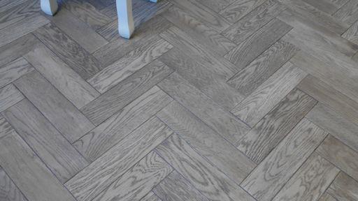 Tradition Herringbone Engineered Oak Parquet Flooring, Gunmetal, Grey, 80x18x300 mm Image 2