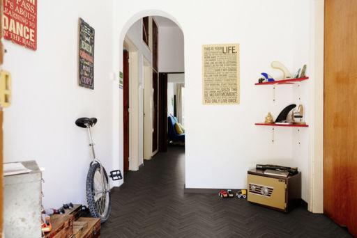 Tradition Luvanto Click Herringbone Ebony Luxury Vinyl Flooring, 149x4x596 mm Image 1