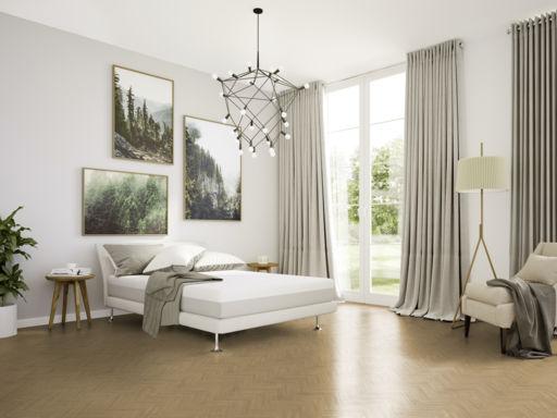 Tradition Luvanto Click Herringbone Natural Oak Luxury Vinyl Flooring, 149x4x596 mm Image 1