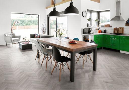 Tradition Luvanto Click Herringbone Pearl Oak Luxury Vinyl Flooring, 149x4x596 mm Image 1