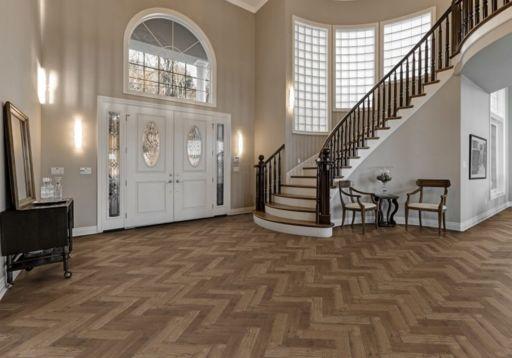 Tradition Luvanto Click Herringbone Priory Oak Luxury Vinyl Flooring, 149x4x596 mm Image 1