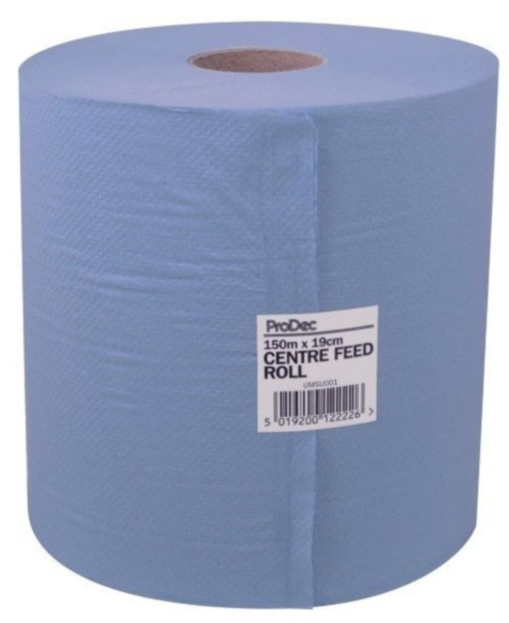 ProDec Blue 2-Ply Centre Feed Towel, 150m Image 1