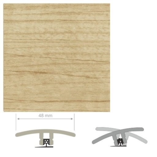 HDF Unistar Light Varnished Maple Threshold For Laminate Floors, 90 cm Image 2