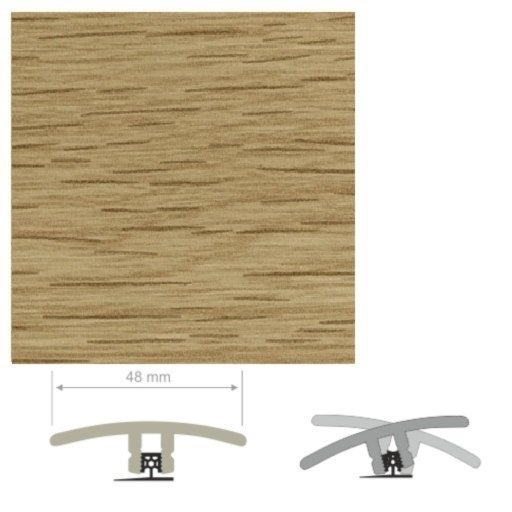 HDF Unistar Natural Oak Threshold For Laminate Floors, 90 cm Image 2
