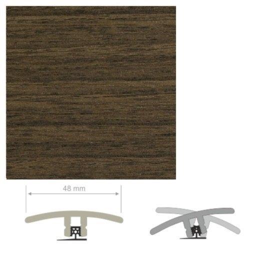 HDF Unistar Dark Walnut Threshold For Laminate Floors, 90 cm Image 1