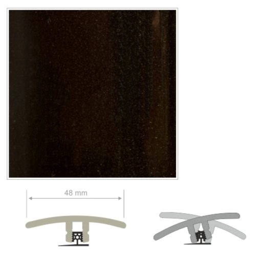 HDF Unistar Black Threshold For Laminate Floors, 90 cm Image 2