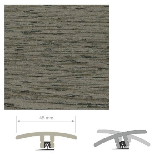 HDF Unistar Silver Ash Threshold For Laminate Floors, 90 cm Image 1