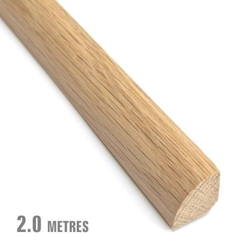 Unfinished Solid Oak Quadrant Beading, 19x19 mm, 2.0 m Image 1