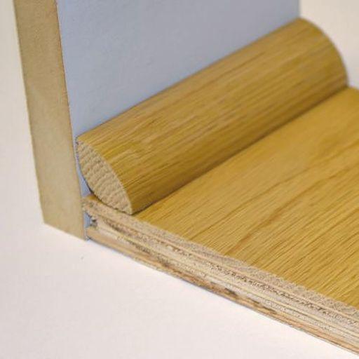 Unfinished Solid Oak Quadrant Beading, 19x19 mm, 2.2 m Image 2