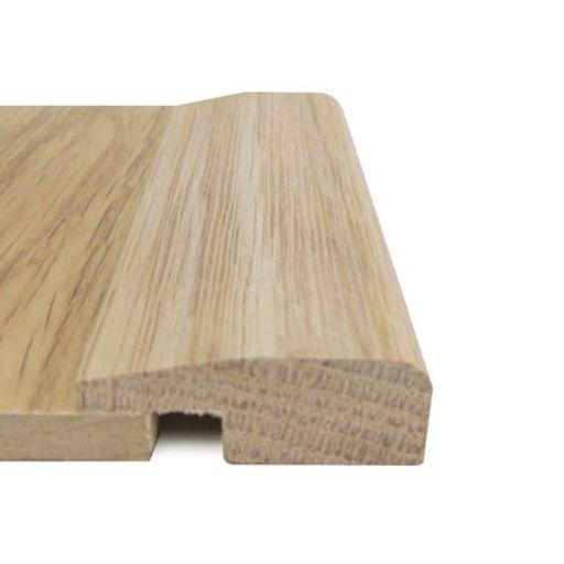 Unfinished Solid Oak L-Shaped Threshold, 40x7 mm, 2.7 m Image 1