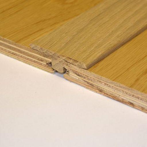 Unfinished Solid Oak T-Shaped Threshold, 90 cm Image 1