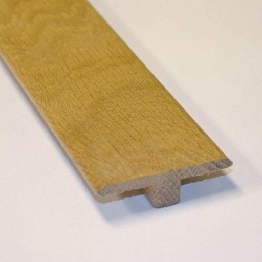 Unfinished Solid Oak T-Shaped Threshold, 15mm, 2.7 m Image 1