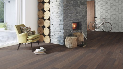 Boen Finesse Oak Stone Parquet Flooring, Live Natural Oiled, Unbrushed, 2V Bevel, 10.5x135x1350 mm Image 1