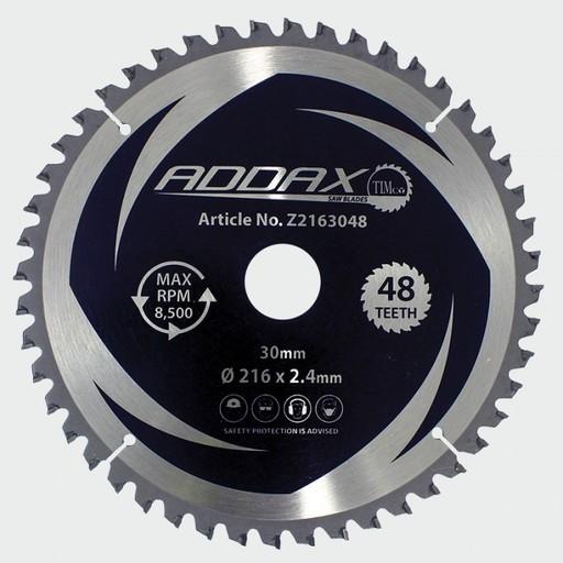 Addax TCT Mitre Sawblades, 48T, 216x30 mm Image 1