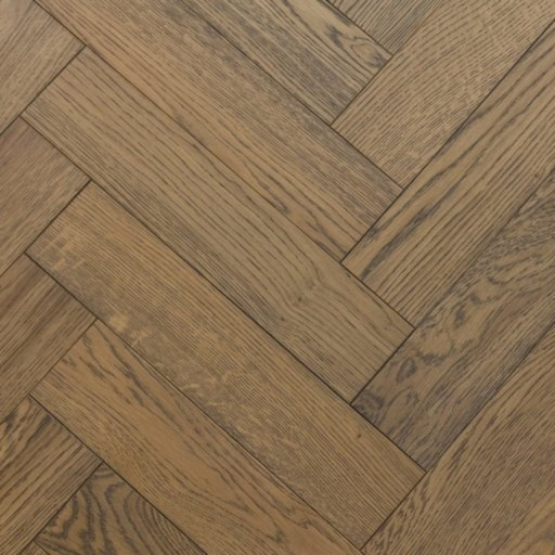 V4 Frozen Umber Engineered Oak Parquet Flooring, Rustic, Stained, Brushed & Hardwax Oiled, 90x15x360 mm Image 3